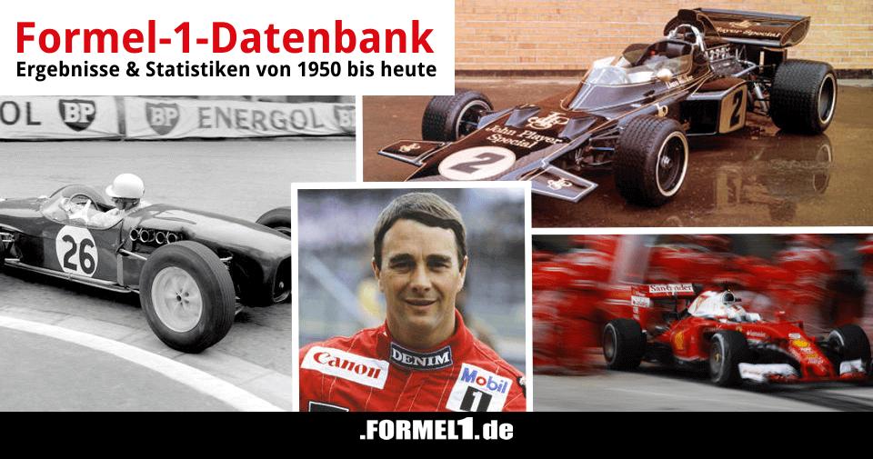 Formel 1 Datenbank Ergebnisse Und Statistiken Seit 1950 Formel1de
