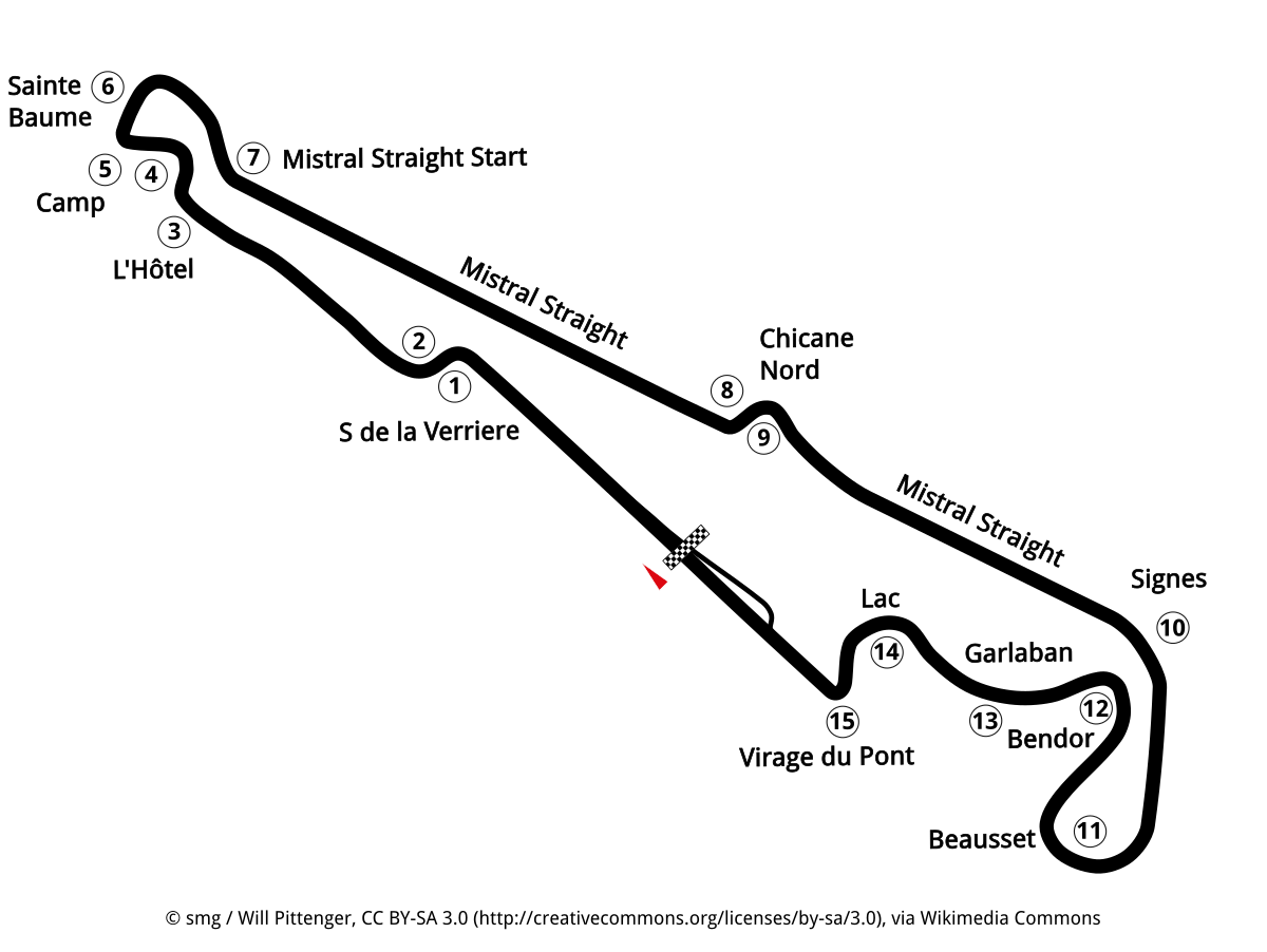 Strecken Circuit Paul Ricard In Le Castellet Gro 223 Er