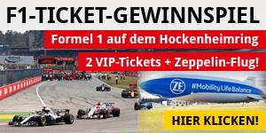 Formel 1 Gewinnspiel Hockenheimring 2019