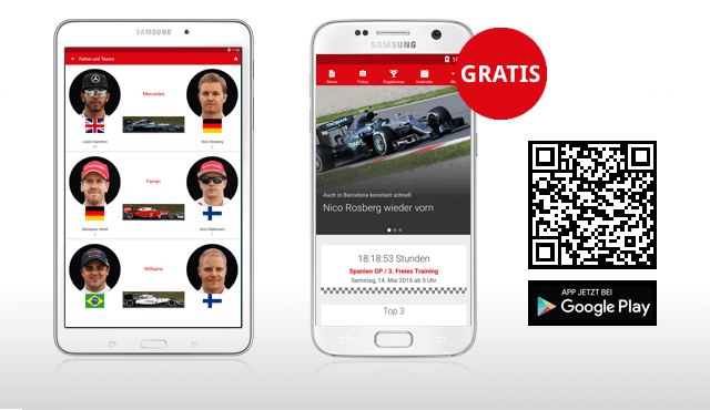 Formel 1 Android-App Deutsch