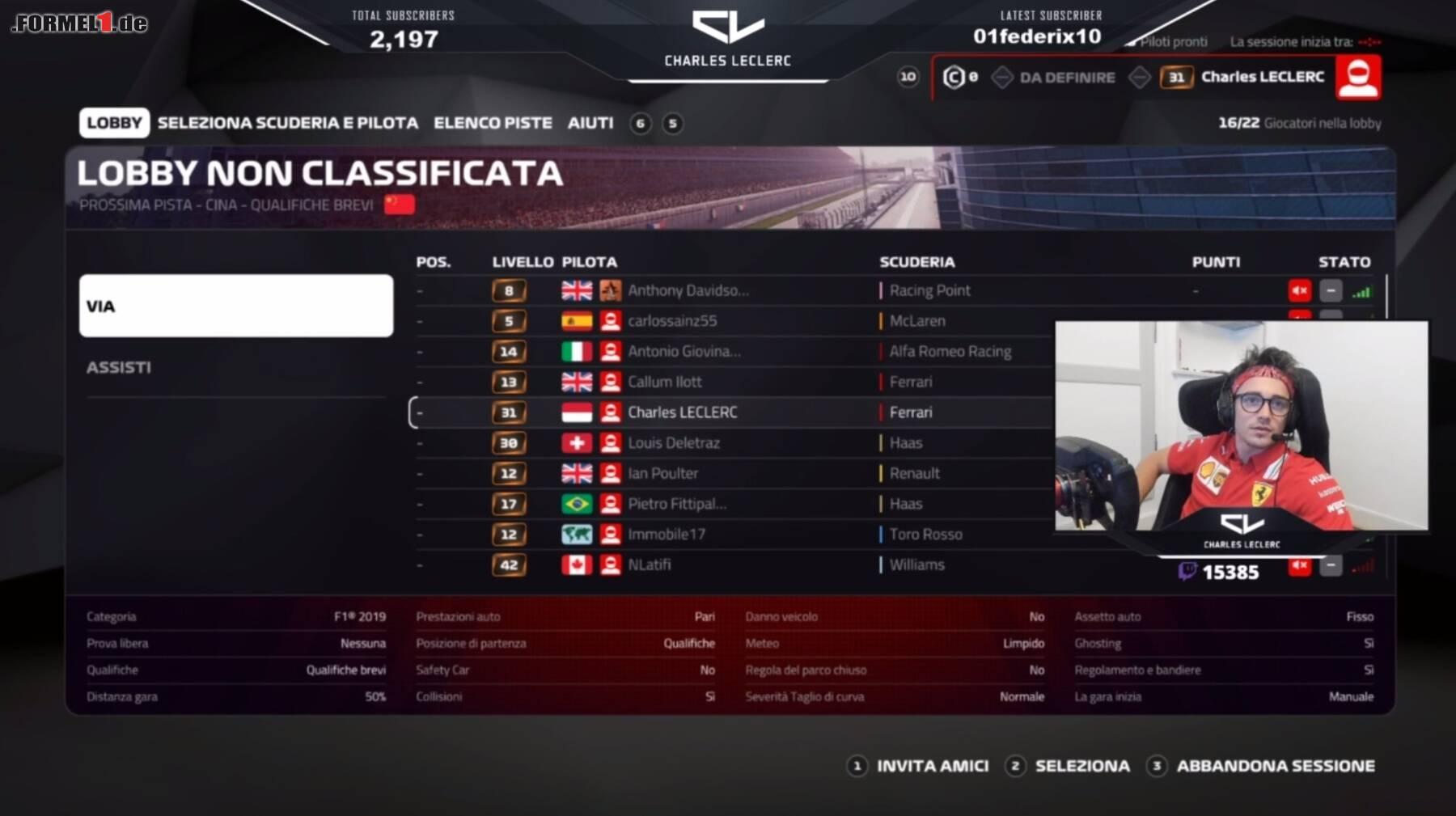 Formel 1 Twitch