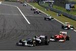 Bruno Senna (Williams) und Felipe Massa (Ferrari)
