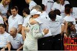 Michael Schumacher (Mercedes) und Ross Brawn (Mercedes-Teamchef)