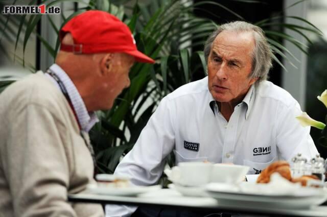Jackie Stewart und Niki Lauda sind sich einig: Hamilton hat Schuld am Crash