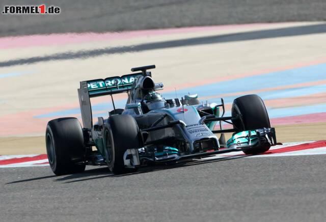 Gegen Nico Rosberg war am Samstag in Bahrain einfach kein Kraut gewachsen: Der Wiesbadener dominierte die Szenerie und untermauere die starke Mercedes-Form, hatte aber einige technische Probleme.