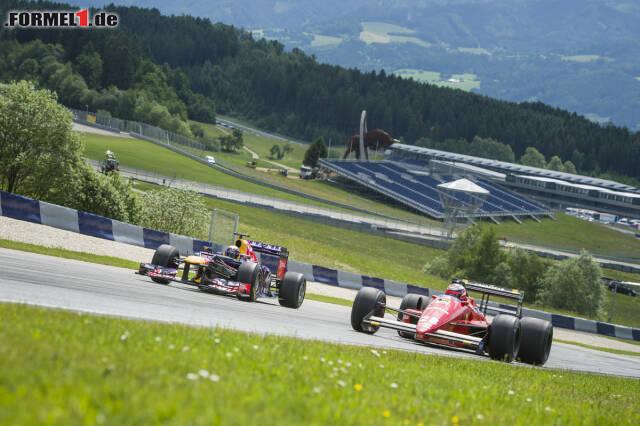 Gerhard Berger fuhr zum ersten Mal seit 1988 wieder im Ferrari 88C