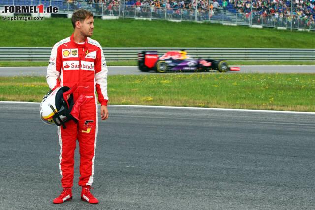 Sebastian Vettel war am Freitag schnell auf der Strecke (Bestzeit mit 1:09.600 Minuten), aber auch lange abseits der Strecke, denn...
