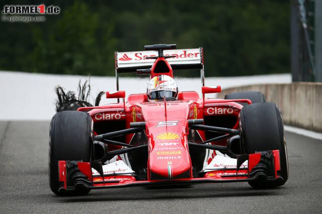 Das hätte böse enden können: Sebastian Vettels Reifen platzte ohne Vorwarnung