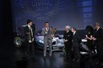 Lewis Hamilton (Mercedes), Toto Wolff, Jean Todt und Bernie Ecclestone