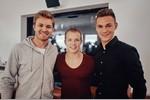 Nico Rosberg mit Turn-Olympiasieger Fabian Hambüchen und dem Fußballer Joshua Kimmich