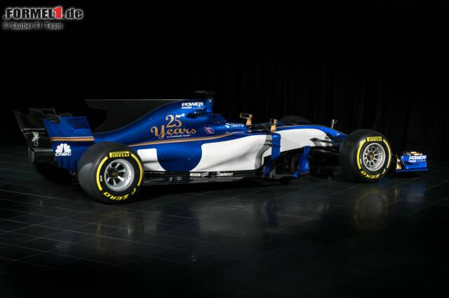Sauber präsentiert goldigen Formel-1-Boliden