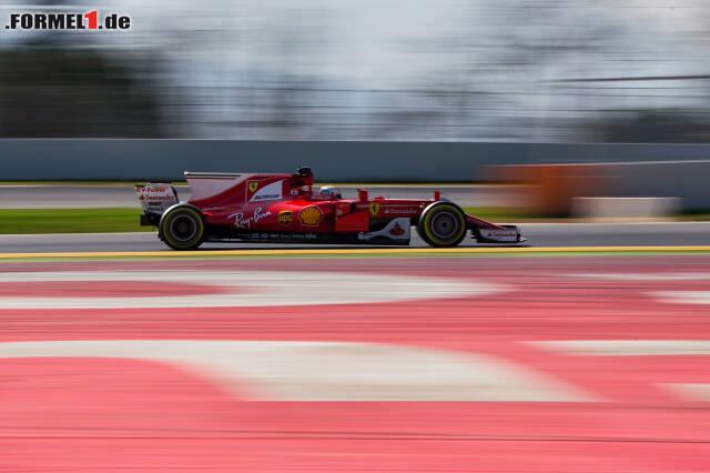 Rot im grünen Bereich: Sebastian Vettels Ferrari SF70H war einmal mehr schnell und zuverlässig. Der Lohn war Platz eins in der Zeitentabelle...