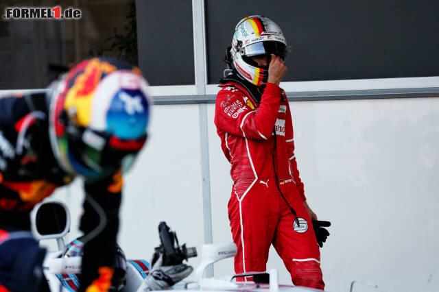Sebastian Vettel ist nach Baku unser Verlierer des Rennens. Jetzt durch die besten Szenen des dramatischen Grand Prix klicken!