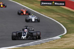 Romain Grosjean (Haas), Lance Stroll (Williams) und Fernando Alonso (McLaren)