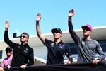 Nico Hülkenberg (Renault), Max Verstappen (Red Bull) und Stoffel Vandoorne (McLaren)