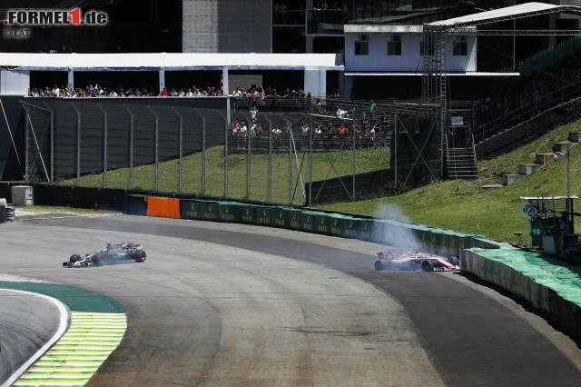 Esteban Ocon muss seinen ersten Formel-1-Ausfall hinnehmen. Die 17 besten Fotos des Grand Prix von Brasilien jetzt durchklicken!