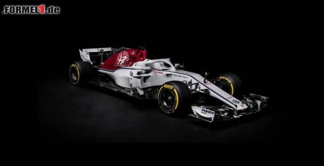 Der neue Sauber C37: Das Alfa-Romeo-Logo ist seit dieser Saison auf dem Boliden omnipräsent. Doch was verbirgt sich hinter dem Design aus der Feder von Jörg Zander? Jetzt durch die Bilder klicken!