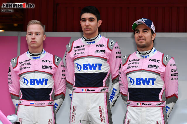 Esteban Ocon (Force India) und Sergio Perez (Force India)