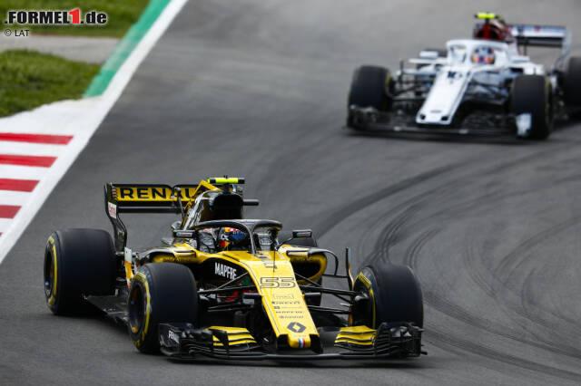 Carlos Sainz (Renault) und Charles Leclerc (Sauber)