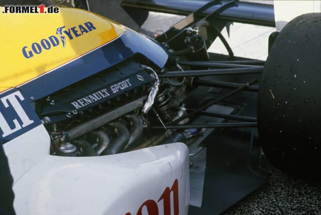 Ihre erste Partnerschaft (noch in der V10-Ära) gingen Williams und Renault 1989 ein ...