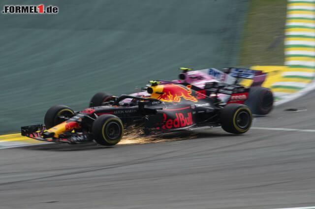 Die Szene des Rennens: Max Verstappen kollidiert im Senna-S mit Esteban Ocon. Jetzt durch den Ablauf klicken!