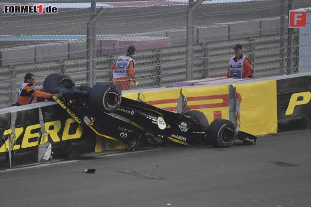 Für Nico Hülkenberg endete das Rennen äußerst unsanft. Wie es zum Unfall kam: