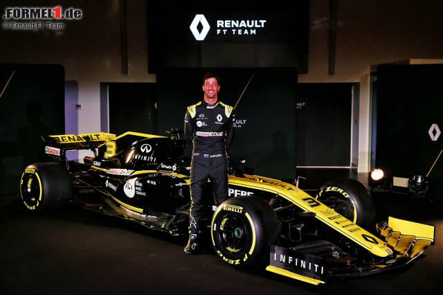Daniel Ricciardo glaubt, dass Renault die gleichen Möglichkeiten wie sein Ex-Team Red Bull hat. Jetzt durch weitere Bilder seines neuen Boliden klicken!
