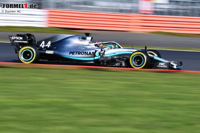 Das Design des neuen Silberpfeils für die Formel-1-Saison 2019. Nachfolgend gibt's alle bisherigen Mercedes-Designs ab 2010 zum Vergleich ...