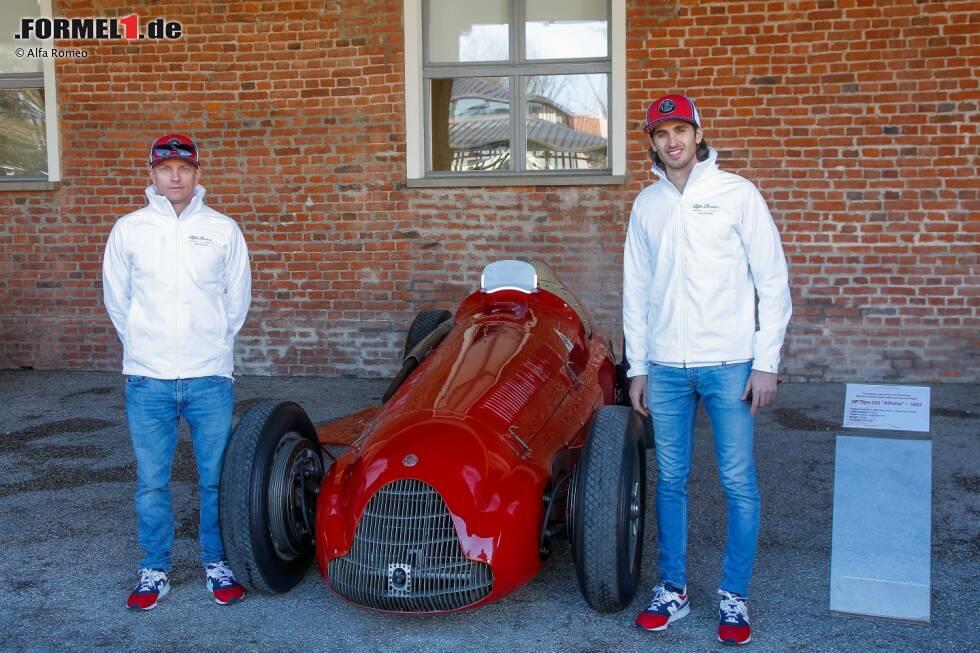 Kimi Räikkönen und Antonio Giovinazzi (Alfa Romeo)