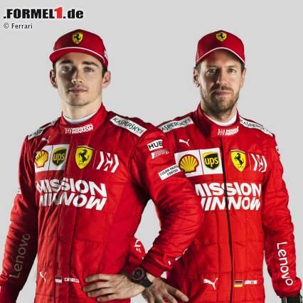 Sebastian Vettel und Charles Leclerc