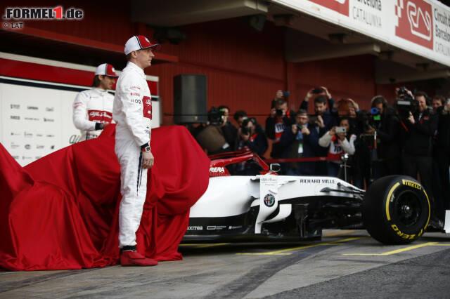 Kimi Räikkönen (Alfa Romeo) und Antonio Giovinazzi (Alfa Romeo)