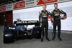Kevin Magnussen (Haas) und Romain Grosjean (Haas)