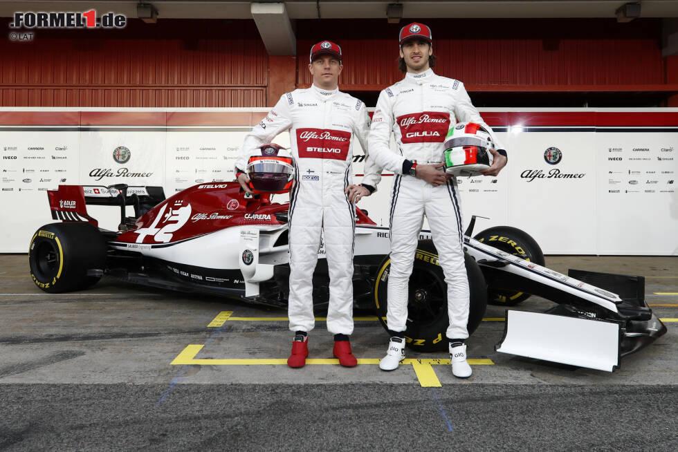 Kimi R?ikk?nen (Alfa Romeo) und Antonio Giovinazzi (Alfa Romeo)