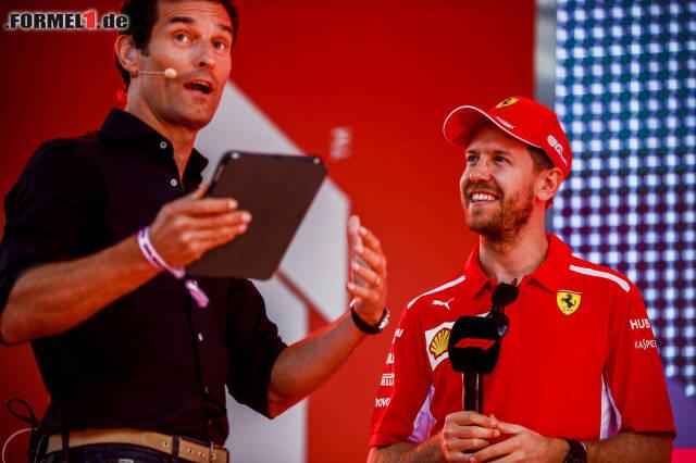 Beim Show-Event in Melbourne ließ Vettel die Namensbombe platzen...