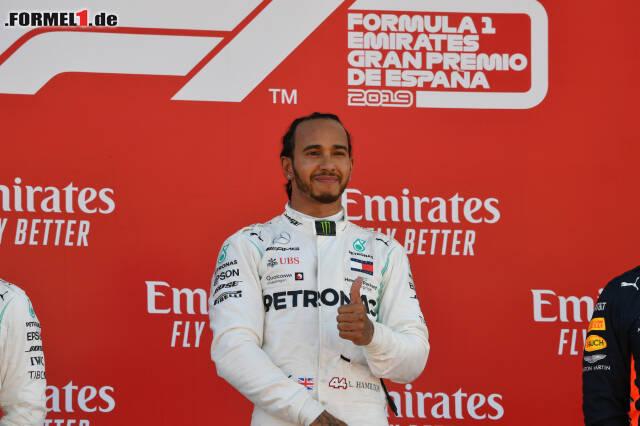 Mercedes-Fahrer Lewis Hamilton übernahm mit dem Sieg in Spanien wieder die WM-Führung