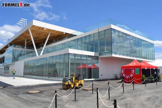 So sieht das neue Boxengebäude in Montreal aus. Jetzt durch alle Bilder klicken!