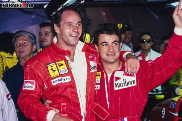 Gerhard Berger und Jean Alesi gehören zu den Teamkollegen mit den meisten Rennen. Jetzt durch die Top 10 klicken!
