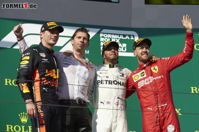 Ein bekanntes Bild: Mercedes, Ferrari und Red Bull auf dem Podium. Wir liefern einen Überblick über alle Podiumsbesucher seit 2014!
