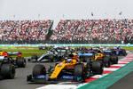 Carlos Sainz (McLaren), Max Verstappen (Red Bull), Lando Norris (McLaren), Valtteri Bottas (Mercedes) und Daniil Kwjat (Toro Rosso)