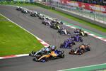 Lando Norris (McLaren), Valtteri Bottas (Mercedes), Max Verstappen (Red Bull), Daniil Kwjat (Toro Rosso), Pierre Gasly (Toro Rosso) und Daniel Ricciardo (Renault)