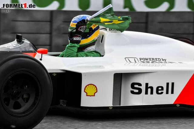 Bruno Senna im McLaren MP4/4 von Onkel Ayrton aus 1988