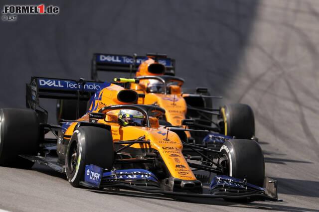2019 fährt McLaren in der traditionellen Farbe Papaya-Orange gemischt mit ein wenig Blau. Dieses Design wurde bereits 2018 eingeführt ...