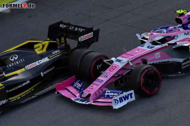 Nico Hülkenberg (Renault) und Lance Stroll (Racing Point)