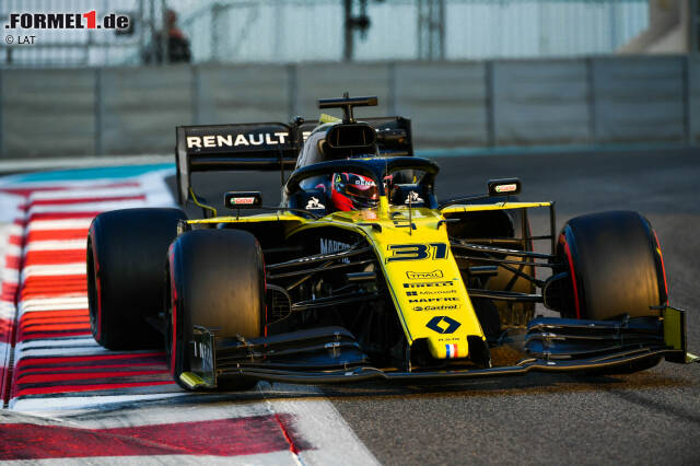 Esteban Ocon absolviert im Renault R.S.19 am Dienstag in Abu Dhabi insgesamt 77 Runden bei seinem Comeback. Nachfolgend ein paar Impressionen vom ersten Tag des Franzosen ...