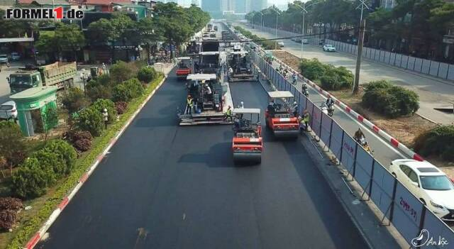 Impressionen von den Bauarbeiten an der neuen Formel-1-Rennstrecke in Hanoi in Vietnam