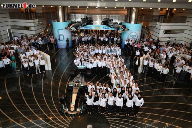In Malaysia feierte Mercedes mit Petronas den erneuten WM-Titelgewinn in der Formel 1