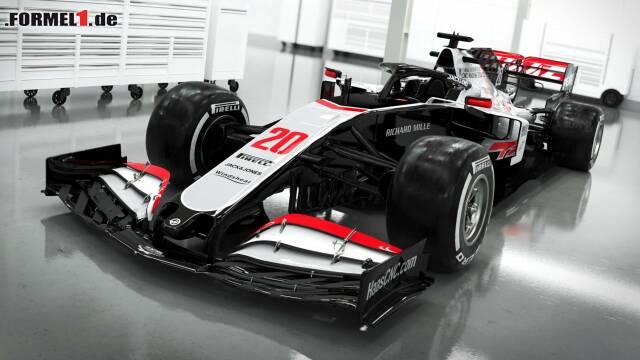 Haas hat als erstes Team sein Auto für die Formel-1-Saison 2020 gezeigt. Klick dich durch für weitere Bilder!