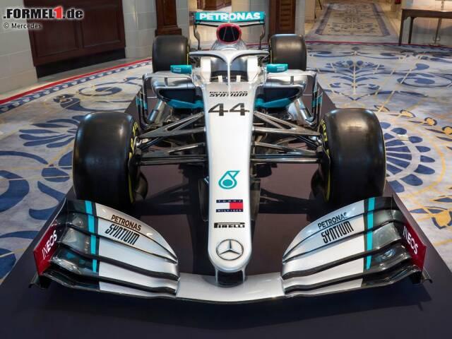 Die Silberpfeile enthüllen die neue Mercedes-Lackierung für 2020. Klick dich durch die weiteren Bilder.