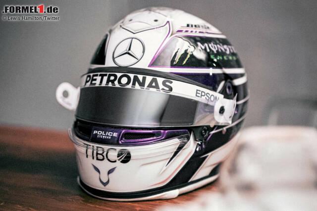 Das neue Helmdesign von Lewis Hamilton für 2020 mit Violett