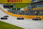 Lando Norris (McLaren), Sergio Perez (Racing Point), Lance Stroll (Racing Point) und Daniel Ricciardo (Renault)